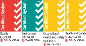 SAI Logos certified system indratel